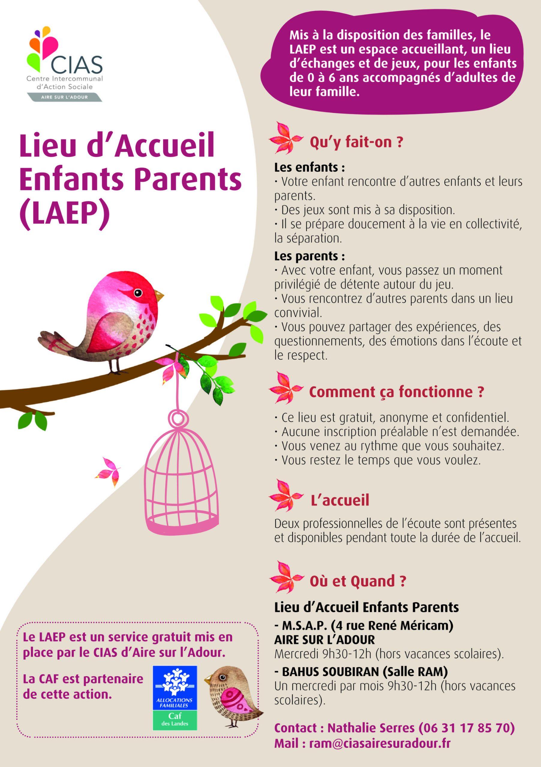 Flyer Lieu d'Accueil Enfants Parents